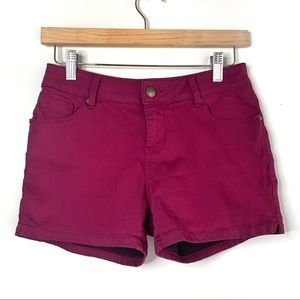 Brody Jeans Maroon Shorts, 25